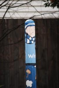 winter bollard